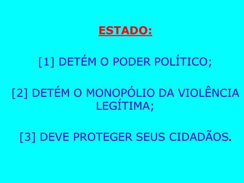 [1] DETÉM O PODER POLÍTICO;